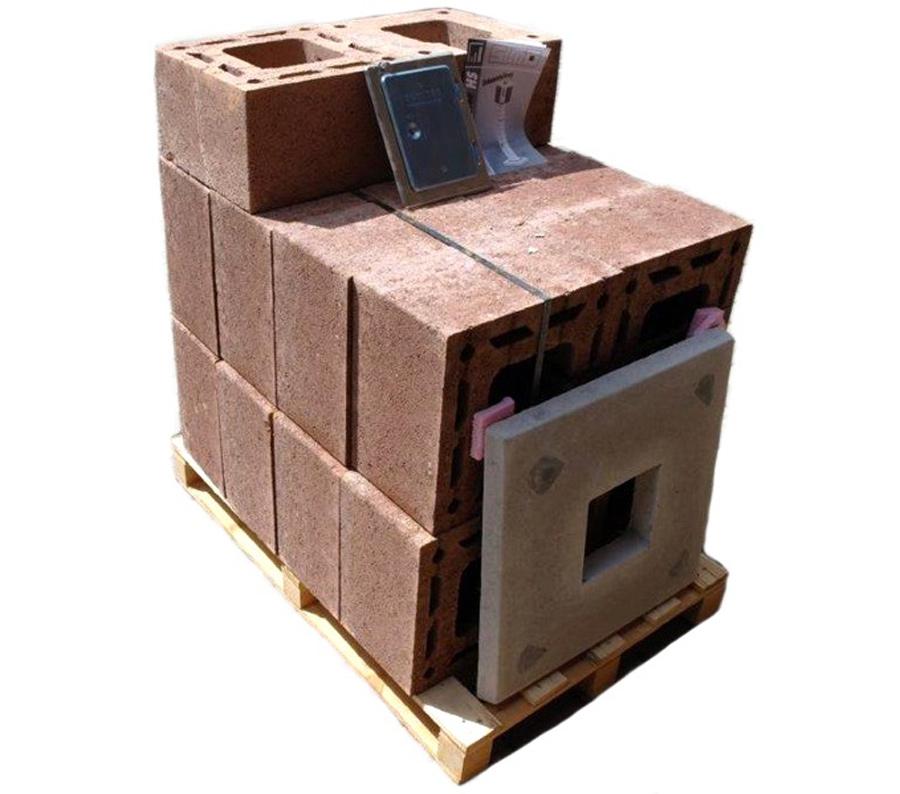 neu simo einschaliger haus schornstein massiv 6m komplett paket hs 20x20 kamin. Black Bedroom Furniture Sets. Home Design Ideas