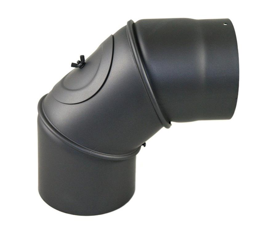 rauchrohr winkel verstellbar 0 90 dn 150 mm grau ofenrohr kamin stahlrohr neu ebay. Black Bedroom Furniture Sets. Home Design Ideas