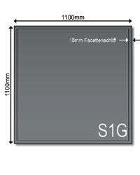 Glasbodenplatte 6 mm Grau beschichtet