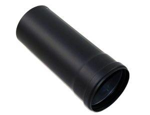 Pelletrohr DN 80 mm LE 250 mm in Schwarz