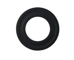 Pelletrohr DN 80 mm Wandrosette in Schwarz