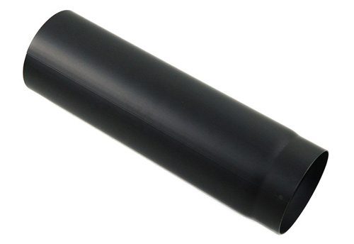 Rauchrohr 500 mm in Schwarz 130 mm