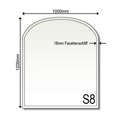 Glasbodenplatte Kamin S8 1200 x 1000 x 6 mm