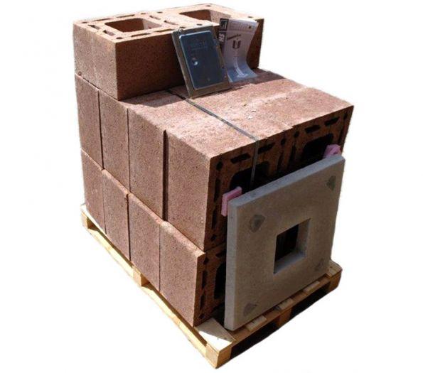 Simo Hausschornstein Komplettpaket 6,5 m HS 25/25