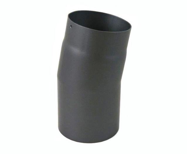 Rauchrohr Ofenrohr grau DN 150 mm Winkel 15° starr