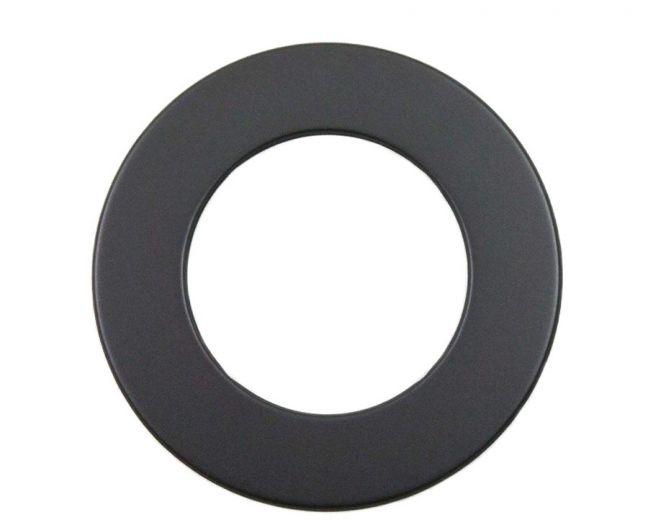 Rauchrohr Grau DN 150 mm Wandrosette 50 mm Ring