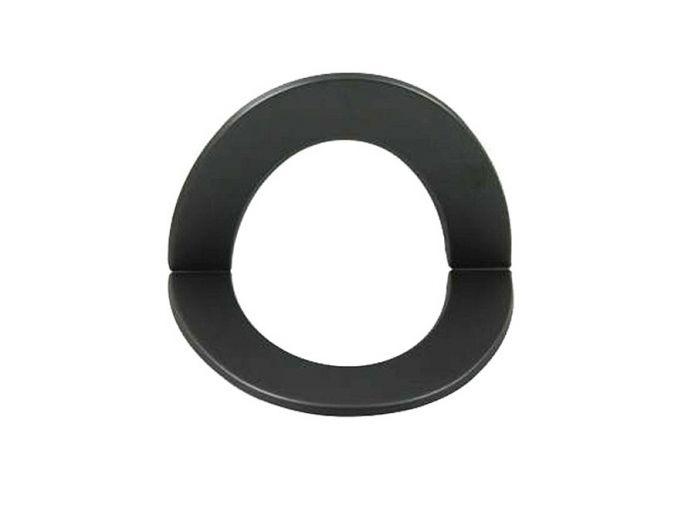 Rauchrohr DN 150 mm Wandrosette für Mauermuffe Ecke innen grau