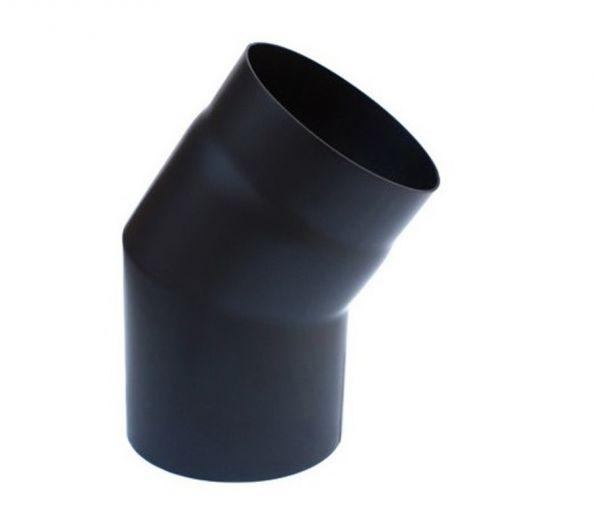 Rauchrohr Ofenrohr schwarz DN 150 mm Winkel 30° starr