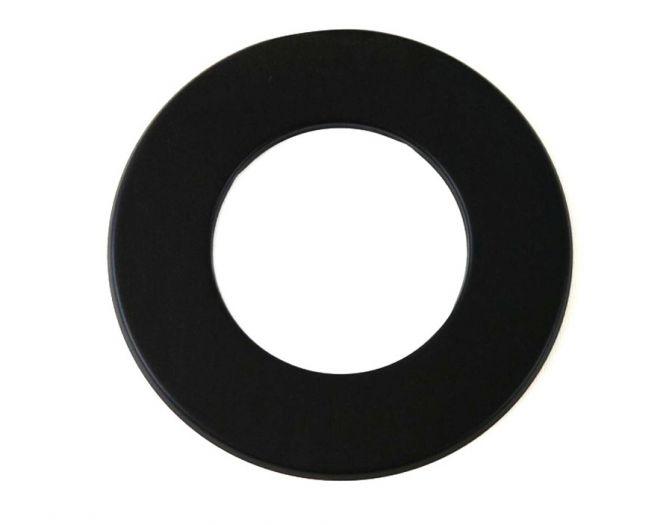 Rauchrohr schwarz DN 150 mm Wandrosette 50 mm Ring