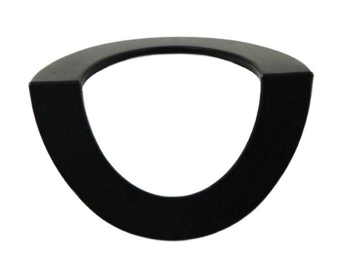 Rauchrohr DN 150 mm Wandrosette für Mauermuffe Ecke aussen schwarz