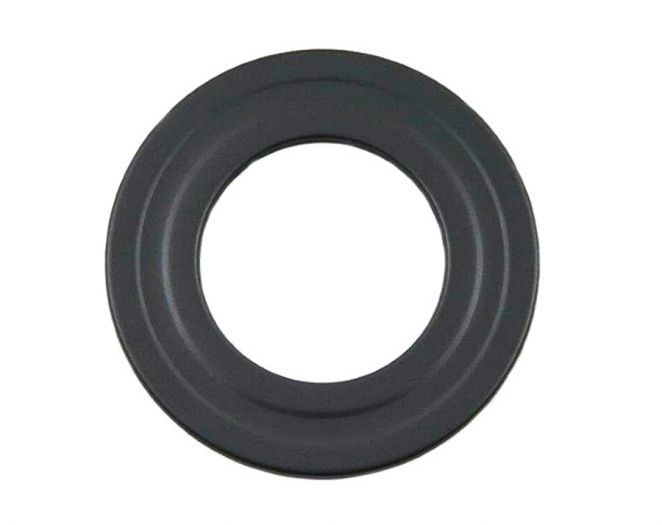 Pelletrohr DN 80 mm Wandrosette in Grau
