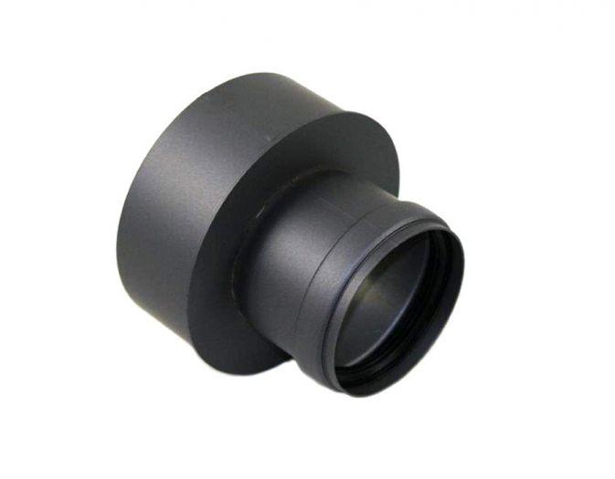 Pelletrohr Erweiterung 80 auf 150 mm in Grau