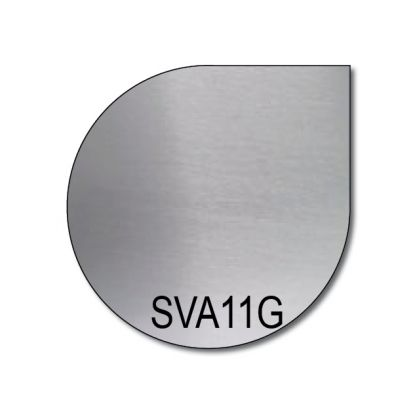 Edelstahlbodenplatte SVA 11 gebürstet