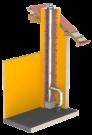 Schornsteinsanierung Pellet Komplettpaket Ø 130 - 4,97 Meter