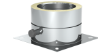 Jeremias DN 160 mm Grundplatte mit 1/2 Außennippel, Verschlusskappe und Kondensatablauf seitlich