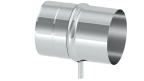 Abgasrohr DN 110 mm Längenelement 250 mm mit Ablauf