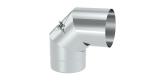 Abgasrohr DN 130 mm Winkel starr 90° mit Reinigung